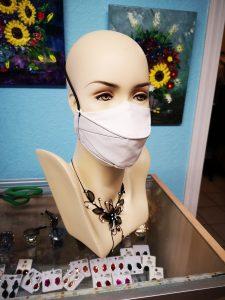 White adjustable mask