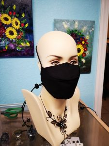 Adjustable black Mask