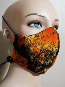 100% cotton adjustable mask