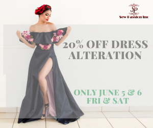 20% off dress alteration