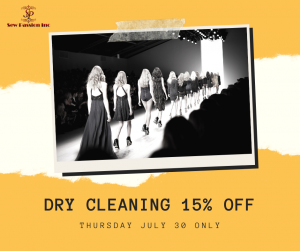 dry cleaning 15% off